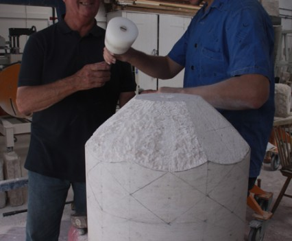 Peter-Ayres-with-stonemason-Dave-Frost